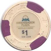 casino ambassador san juan $ 1 chip anv