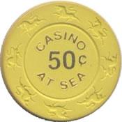 casino at sea 50c chip anv