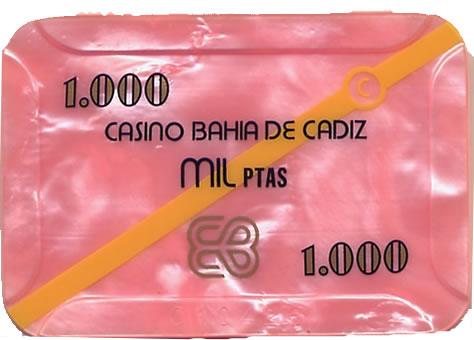 casino bahia de cadiz 1.000 ptas plaque 80x55mm anv