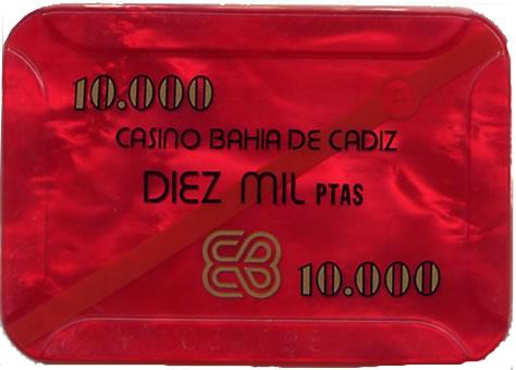 casino bahia de cadiz 10.000 ptas plaque 80x55mm anv