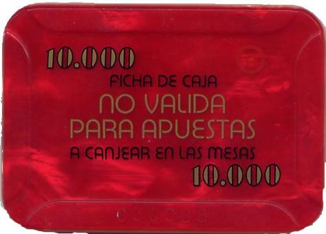casino bahia de cadiz 10.000 ptas plaque 80x55mm rev