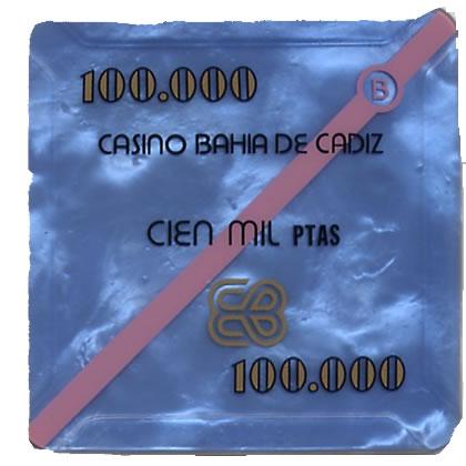 casino bahia de cadiz 100.000 ptas plaque 68x68mm anv