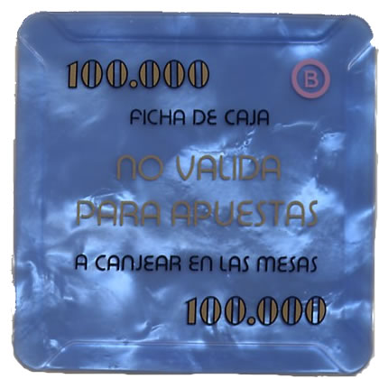 casino bahia de cadiz 100.000 ptas plaque 68x68mm rev