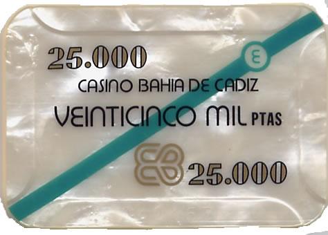casino bahia de cadiz 25.000 ptas plaque 80x55mm anv