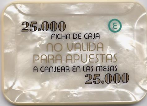 casino bahia de cadiz 25.000 ptas plaque 80x55mm rev