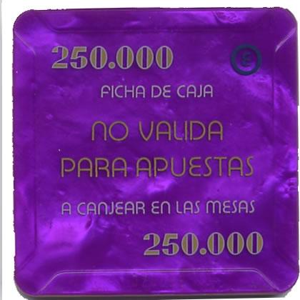 casino bahia de cadiz 250.000 ptas plaque 68x68mm rev