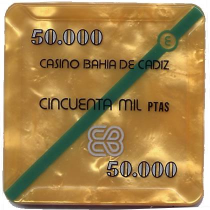 casino bahia de cadiz 50.000 ptas plaque 68x68mm anv