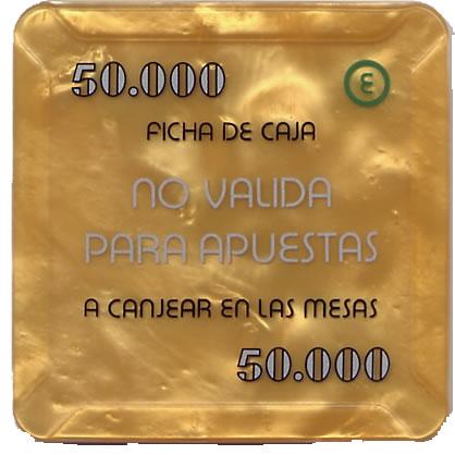 casino bahia de cadiz 50.000 ptas plaque 68x68mm rev