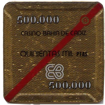 casino bahia de cadiz 500.000 ptas plaque 68x68mm anv