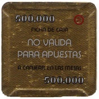 casino bahia de cadiz 500.000 ptas plaque 68x68mm rev