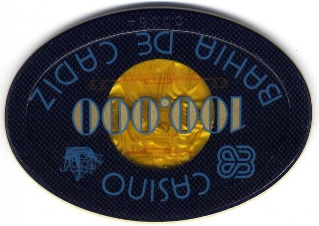 casino bahia de cadiz Ptas 100000 placa CAJArev 106x76mm