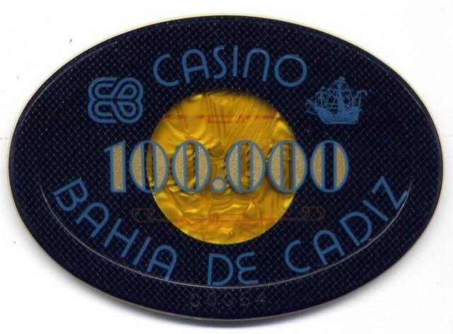 casino bahia de cadiz Ptas 100000 placa n anv 106x76mmCAJA