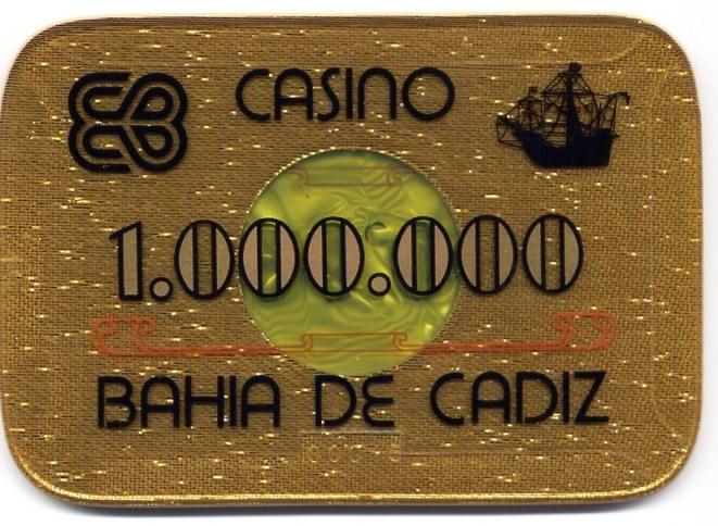 casino bahia de cadiz Ptas 1000000 placa CAJAanv 140x97 mm