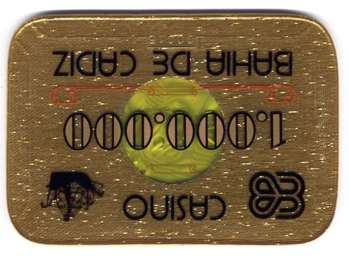 casino bahia de cadiz Ptas 1000000 placa CAJArev 140x97 mm