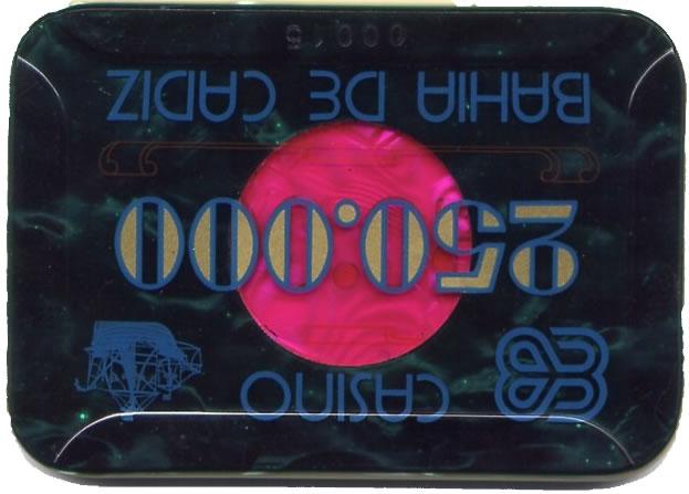 casino bahia de cadiz Ptas 250000 placa v CAJArev 106x74 mm