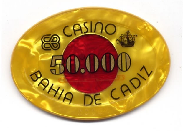 casino bahia de cadiz Ptas 50000 placa am CAJAanv 95x66mm