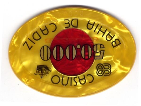 casino bahia de cadiz Ptas 50000 placa am CAJArev 95x66mm