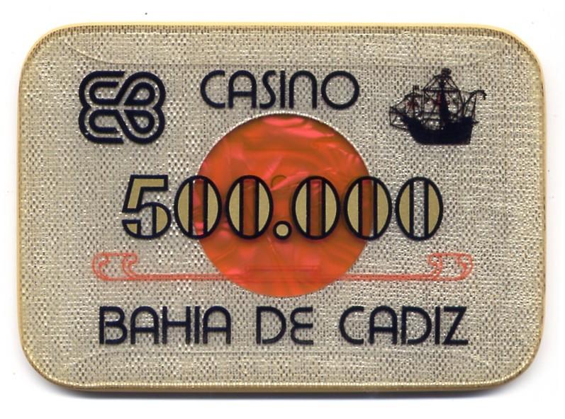casino bahia de cadiz Ptas 500000 placa CAJAanv 118x89 mm