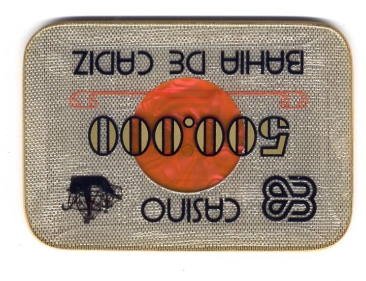 casino bahia de cadiz Ptas 500000 placa CAJArev 118x89 mm