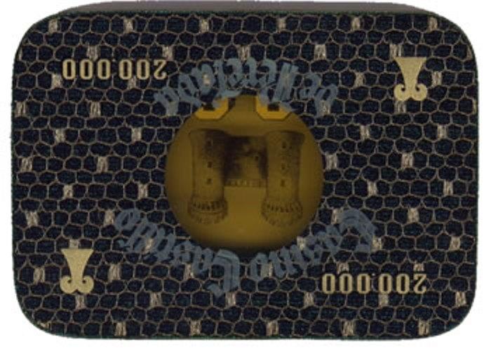 casino castillo de perelada Ptas 200000 placa rev 116x80 mm