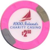 casino charity 1000 island cnd $2.50 chip anv