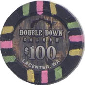 casino double down lacenter wa $ 100 chip anv