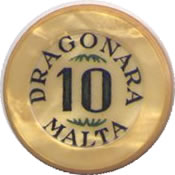 casino dragonara malta £M 10 jeton anv