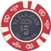casino el san juan $ 5 chip anv