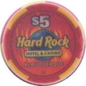 casino hard rock albuquerque NM $5 chip anv