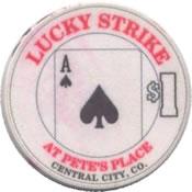 casino lucky strike $1 chip A anv