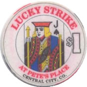 casino lucky strike $1 chip J anv
