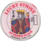 casino lucky strike $1 chip K anv