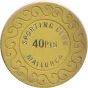 casino mallorca 40 Ptas chip anv