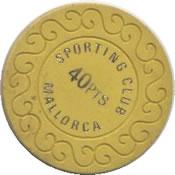 casino mallorca 40 Ptas chip rev