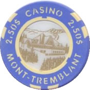 casino mont-tremblant QC CND $2,50 chip anv