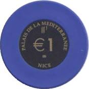 casino palais de la mesiterranee 1 € chip anv