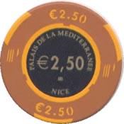 casino palais de la mesiterranee 2,50 € chip anv