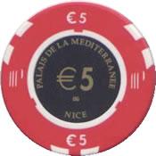 casino palais de la mesiterranee 5 € chip anv