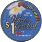 casino peppermill reno $1 chip 2 anv