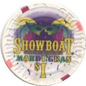 casino showboat AtC $1 chip 1 anv