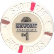 casino showboat AtC $1 chip anv