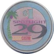 casino spotlight indio CA $1 chip anv