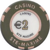 casino ste maxime 2 € chip anv