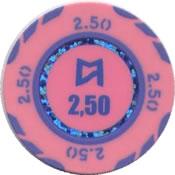 casinos del mar pullmantur 2,50 chip anv