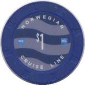 norwegian cruise line $ 1 chip anv