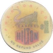 casino caribe hilton pr $ 1 chip 1