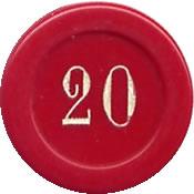 casino cercle gaillon FF 20 jeton 1 rev