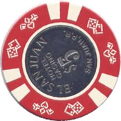 casino el san juan $ 5 chip rev