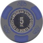 casino montecarlo SBM FF 5 chip 2 anv