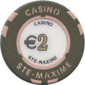 casino ste maxime 2 € chip rev
